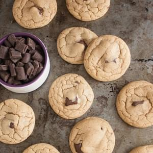 Dark Chocolate Chunk Coconut Oil Cookies