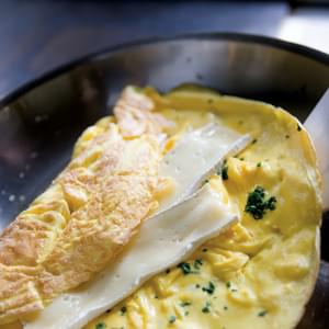 Lots-of-Herbs Omelet Stuffed with Brie