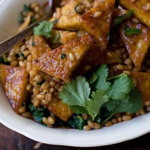 Orange Pan-glazed Tempeh