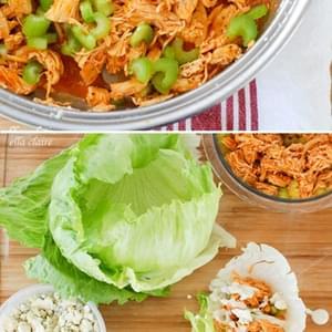 Crock Pot Buffalo Chicken Lettuce Wraps Recipe
