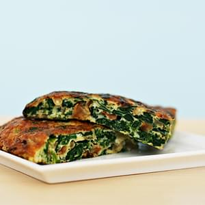 Spinach Tortilla with Pine Nuts