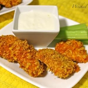 Healthy Crunchy Buffalo Chicken Bites
