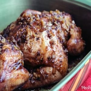 Grilled Cornish Game Hen with Honey Soy Glaze