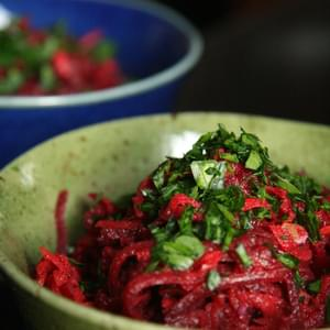 Beet, Carrot, Apple and Walnut Slaw