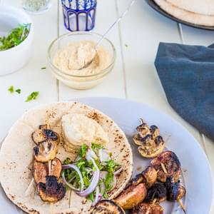 Spiced Fig and Mushroom Kebabs
