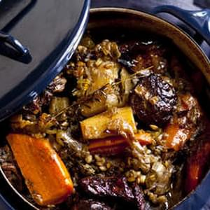 Braised Lamb Stew With Barley And Vegetables