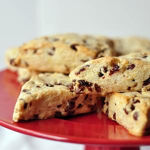 Orange Cherry Chocolate Chip Scones