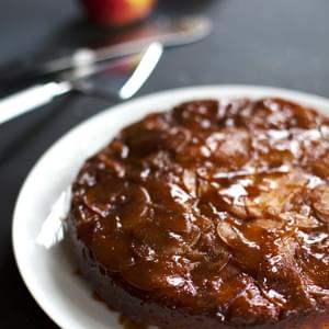 Salted Caramel Apple Upside Down Cake