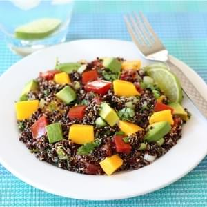 Black Quinoa Salad with Mango, Avocado, & Tomatoes