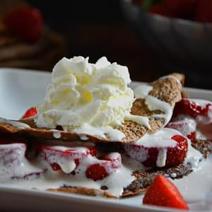 Strawberries and Cream Chocolate Crepes