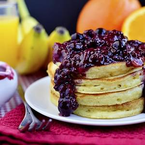 Orange Pancakes with Berry-Orange Sauce
