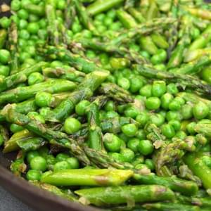 Sautéed Asparagus and Peas