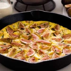 Gluten Free Fig, Goat Cheese, and Prosciutto Frittata