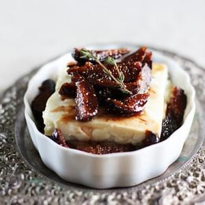 Roasted Feta Cheese with Fig-Thyme Compote