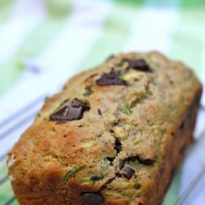 Whole-Wheat Zucchini Bread with Cinnamon & Dark Chocolate Chunks