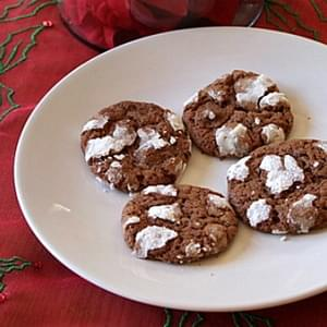 Chocolate- Mint Snowtop Cookies