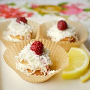 Lemon Cream & Coconut Icebox Cupcakes
