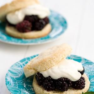 Summer Berry Shortcake with Goat Cheese Cream