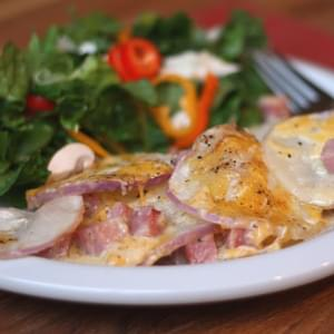 Ham and Turnip Gratin
