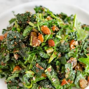 Kale & Quinoa Salad with Dates, Almonds & Citrus Dressing