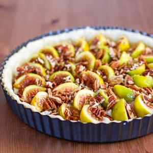Fig Tart with Pecans and Goat Cheese