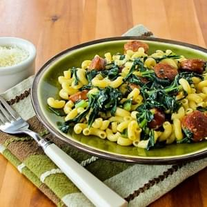 Pasta with Sausage and Collard Greens