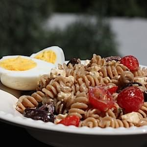 Whole Wheat Mediterranean Pasta Salad