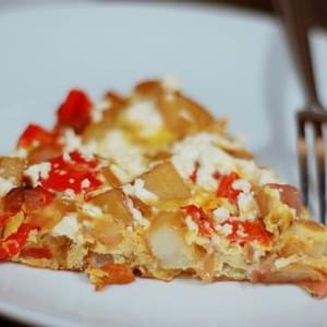 Potato, Red Pepper, and Feta Frittata