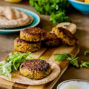 Spiced Millet And Chickpea Burgers