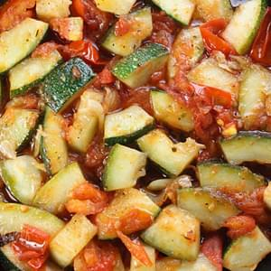 Sautéed Zucchini with Plum Tomatoes