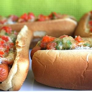 Manchengo Cheese and Garlic Hot Dogs