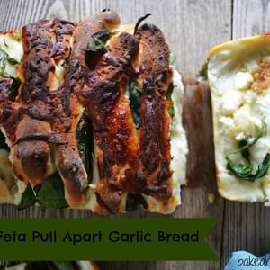 Spinach Feta Pull Apart Garlic Bread