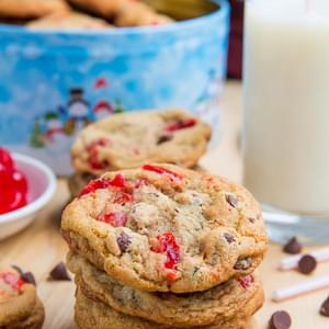 Maraschino Cherry Chocolate Chip Cookies