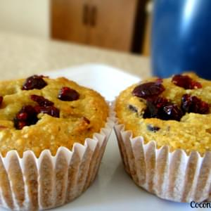 Orange Cranberry Muffin using Coconut and Almond Flour