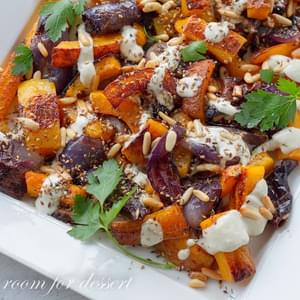 Roasted Butternut Squash & Red Onion With Tahini & Za'atar