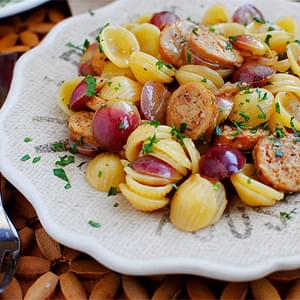 Sausage, Grape & Pasta Skillet