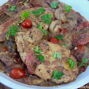 Tuscan Chicken with Tomatoes and Mushrooms