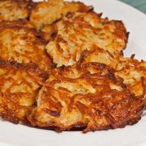 Oven-Fried Potato Latkes