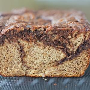 Chocolate Swirl Paleo Banana Bread (Grain-Free)