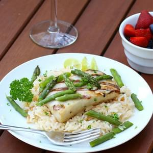 Grilled Mahi Mahi with Coconut-Almond Rice