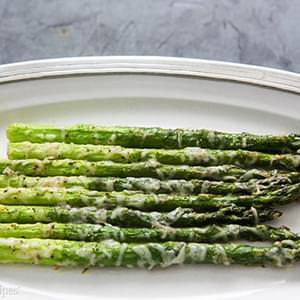 Baked Asparagus with Parmesan