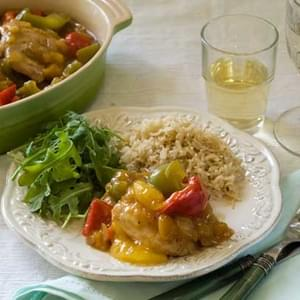 Gluten Free Savory Peach Chicken