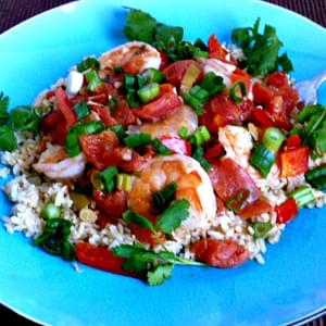 Garlic Shrimp in Coconut Milk, and Tomatoes with Cilantro From Skinnytaste.com