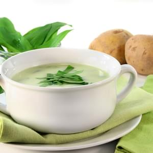 Leek and Baby Spinach Soup