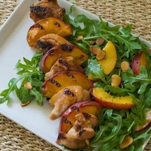 Gluten Free Glazed Chicken and Peach Skewers