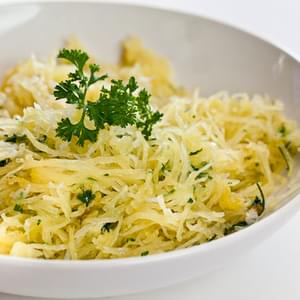 Baked Spaghetti Squash with Garlic and Butter