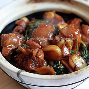 Three Cup Chicken Recipe (三杯鸡)