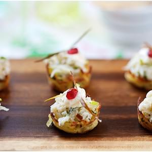 Potato Nests with Crab and Apple Topping