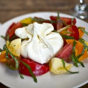 Heirloom Caprese Salad with Burrata