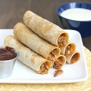 Baked Barbecue Pulled Pork Taquitos